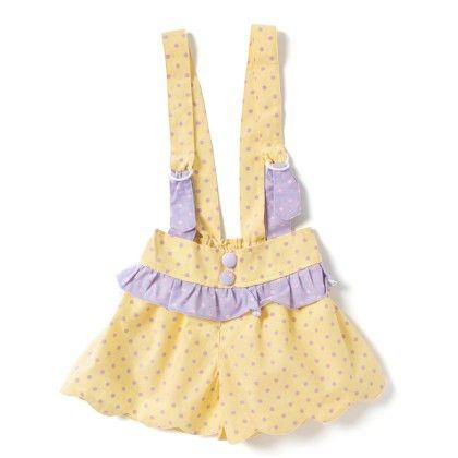 Toddler Cotton Jumper-polka Print- Yellow & Purple - De Berry