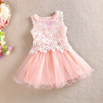 Lace Tutu - Summer Party Dress - Pink - Cherry Blossoms