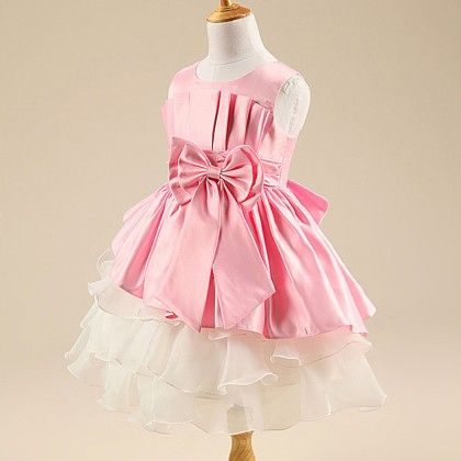 Beautiful Bow Dress-pink - Mauve Collection