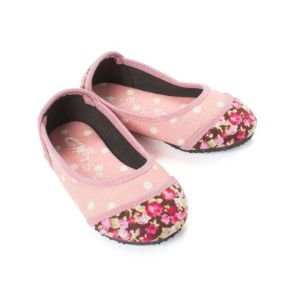 Pink Polka And Floral Print Bellies Infant - Gift Shoes