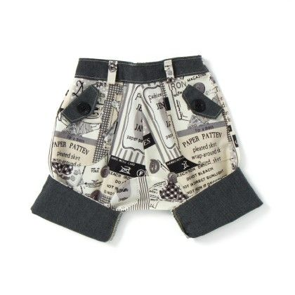 Navy And White Printed Shorts - CroMagnon