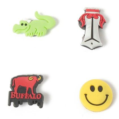Set Of 4 Tiny Magnets (crocodile Cross Smile Buffalo) - It's All About Me