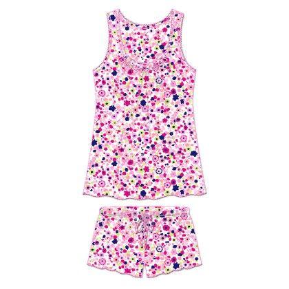 Pink Dainty Floral Short Set - Rene Rofe