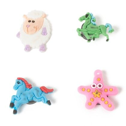 Set Of 4 Tiny Magnets (horse Sheep Horse Starfish) - It's All About Me