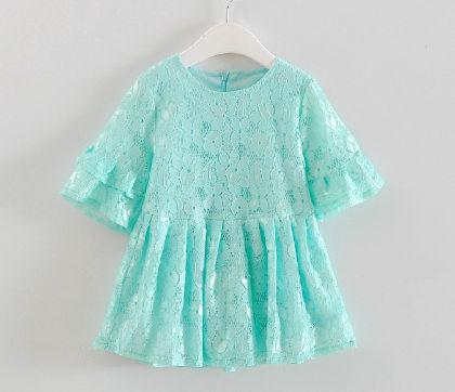 Trendy Floral Lace Dress - Bab