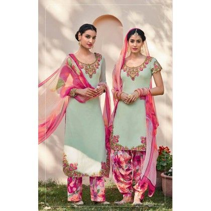 White & Pink Embroidered Unstitched Suit - Diva Palate