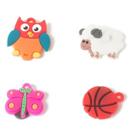 Set Of 4 Tiny Magnets (owl Ball Butterfly Sheep) - It's All About Me