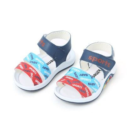 Sandals With Velcro Closure - Navy - Kittens