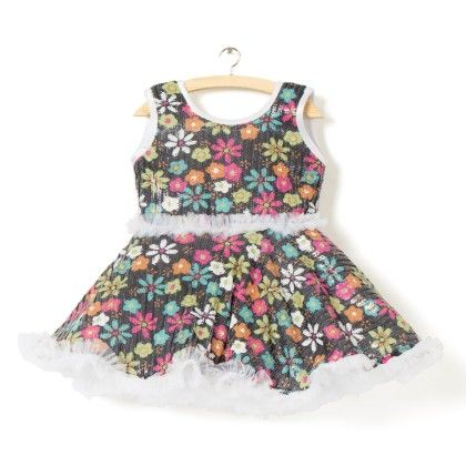 Cute Candy Party Dress - Black - Kid1