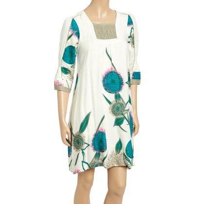 White Floral Square Neck Dress - Women - Yo Baby