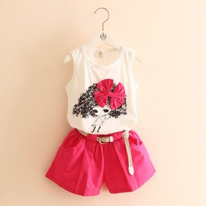 Cute Doll And Shorts Set - Pink - Mauve Collection