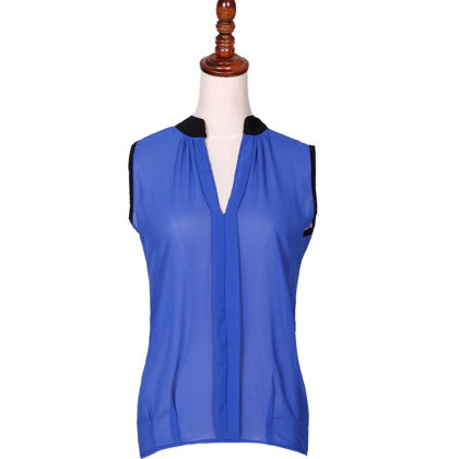 Sleeveless Blue Casual Top - Dell's World