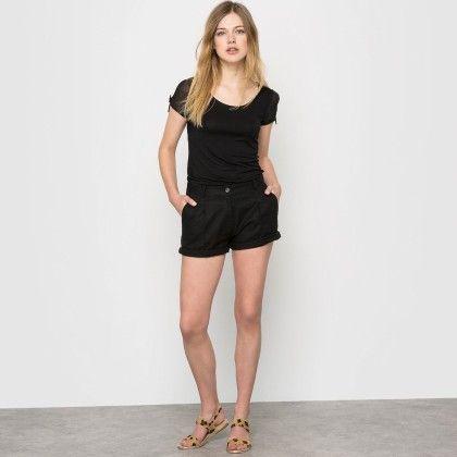 Noir Basic Sheer Sleeves Top - La Redoute