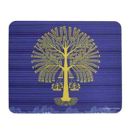 Mousepad Blue Tree Warli - The Elephant Company