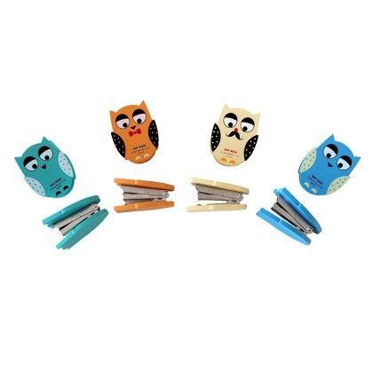 Vintage Owl Stapler Assorted 1 Unit - Assorted - Tee-K-Dee