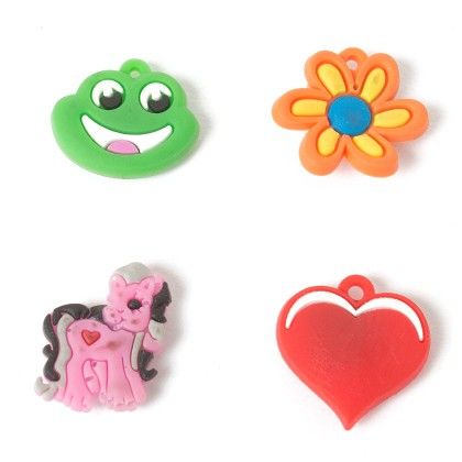Set Of 4 Tiny Magnets (heart Pony Frog Flower) - It's All About Me