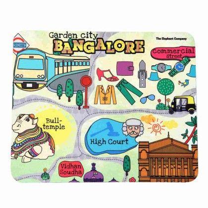 Mousepad Bangalore Maps - The Elephant Company