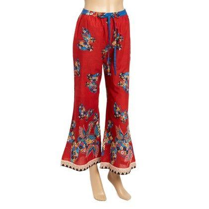 Red Butterfly Palazzo Pants - Women - Yo Baby