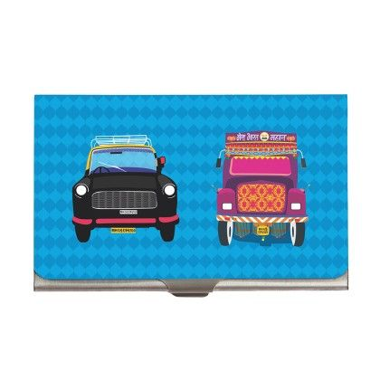 Steel Card Holder Taxi Truck - The Elephant Company