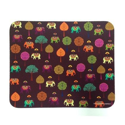 Mousepad Plum Elephant Carnival - The Elephant Company
