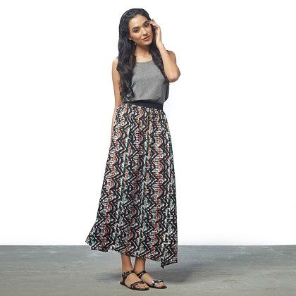 Abstract Print Maxi Dress - The Label Life