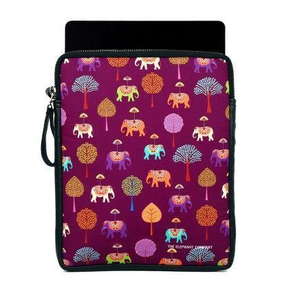 Ipad Sling Plum Elephants Carnival - The Elephant Company
