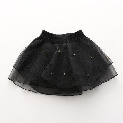 Black Tutu Skirt With Pearl Work - Lilpicks Couture