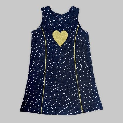 Karen Dress With Polka Dot Print - Navy - A.T.U.N