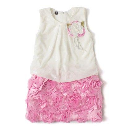 Pink Side Flower Cute Baby One Piece Dress - Aww Hunnie!!