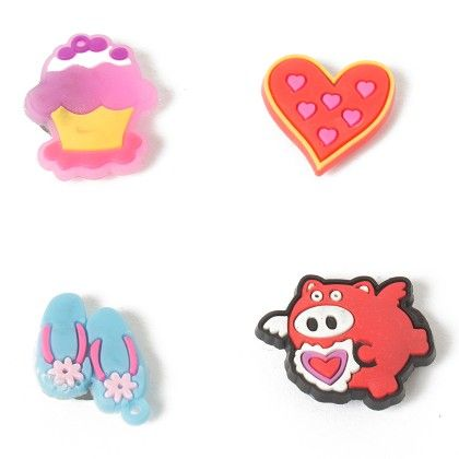 Set Of 4 Tiny Magnets (icecream Bird Heart Slippers) - It's All About Me