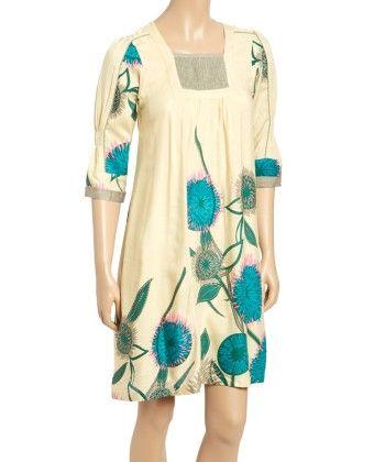 Ivory Floral Square Neck Dress - Women - Yo Baby