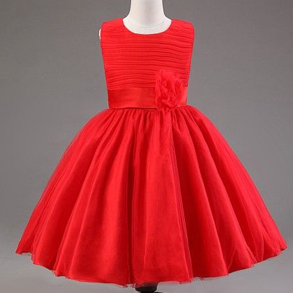 Cute Solid Color Dress-red - Mauve Collection