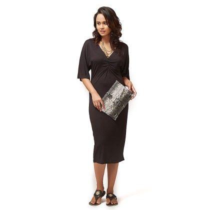 Cinched V Neck Dress - The Label Life