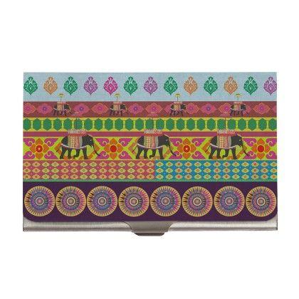 Steel Card Holder Temple Elephant - The Elephant Company