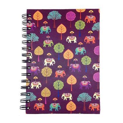 Spiral Diary Plum Elephant Carnival - The Elephant Company