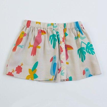 White Girl's Button-up Skirt - Lourdes