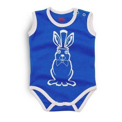 Sleeveless Bodysuit Bunny - Dark Blue - Baby Corner