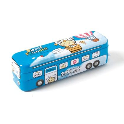 Pencil Box Bus (blue) - It's All About Me