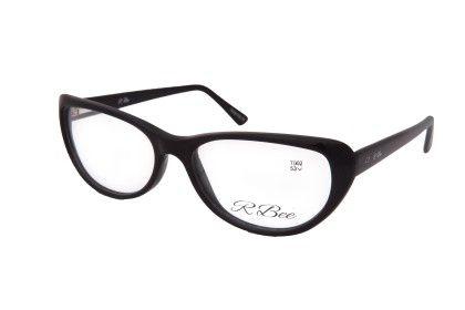 Cat Eye Black Front Black Side - RBee Sunglasses