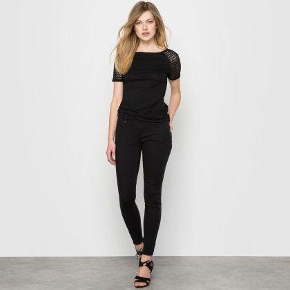 Black Back Lace Basic Top - La Redoute