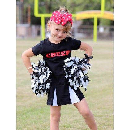 Black Cheer Dress - Dress Up Dreams