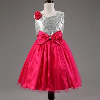 Bow And Layesr Special Red Dress - Mauve Collection