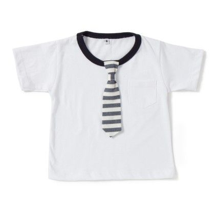 Blue And White Stripe White Print  T-shirt - CroMagnon