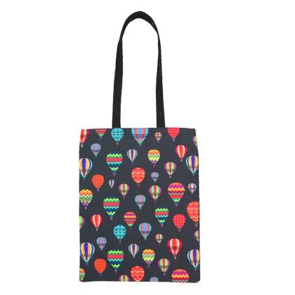 Canvas Totebag Black Up In The Air - The Elephant Company