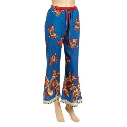 Blue Butterfly Palazzo Pants - Women - Yo Baby