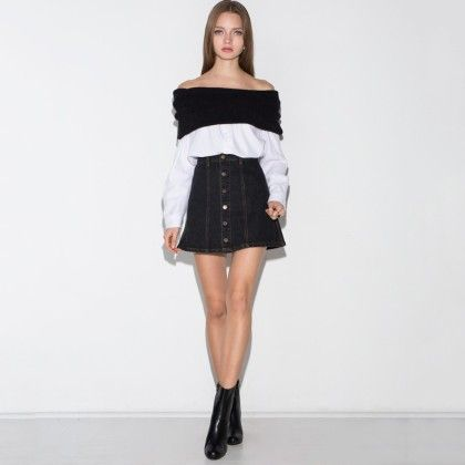 Black And White Dress For Womens - Drama Queen