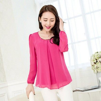 Pink Pleat Casual Top - STUPA FASHION