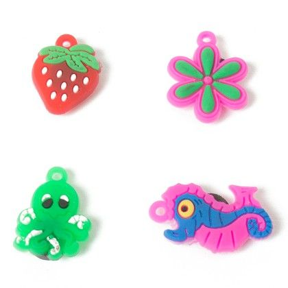 Set Of 4 Tiny Magnets (seahorse Octopus Strawberry Flower) - It's All About Me