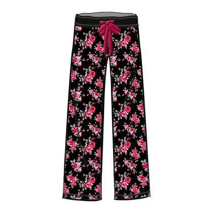 All Over Flower Printed Long Pant - Rene Rofe