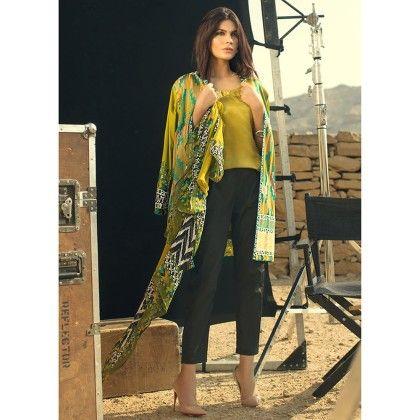 Sana Safinaz Chrome Semistitched Suit - Mauve Collection